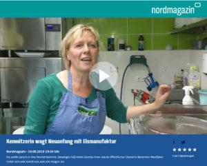Kemnitzerin wagt Neuanfang mit Eismanufaktur / (C) NDR Nordmagazin